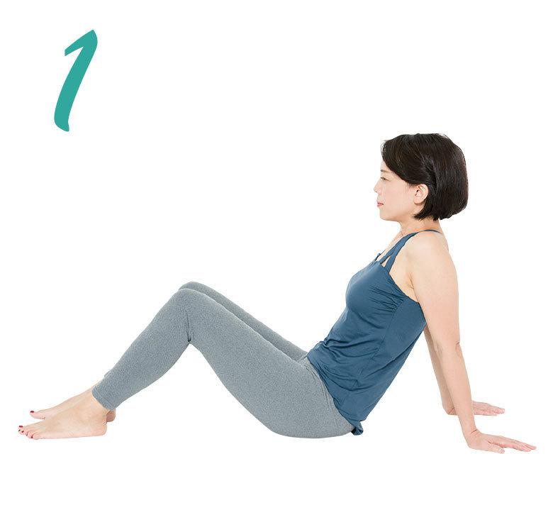 骨盤を整えるエクササイズ 腰伸ばし1