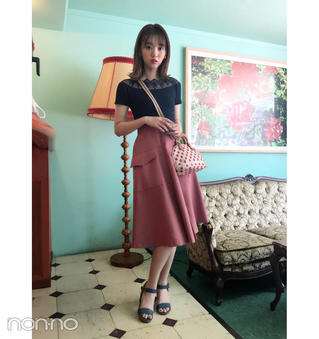 江野沢愛美はレスポのミニショルダーでデートコーデを格上げ♡ 【毎日コーデ】