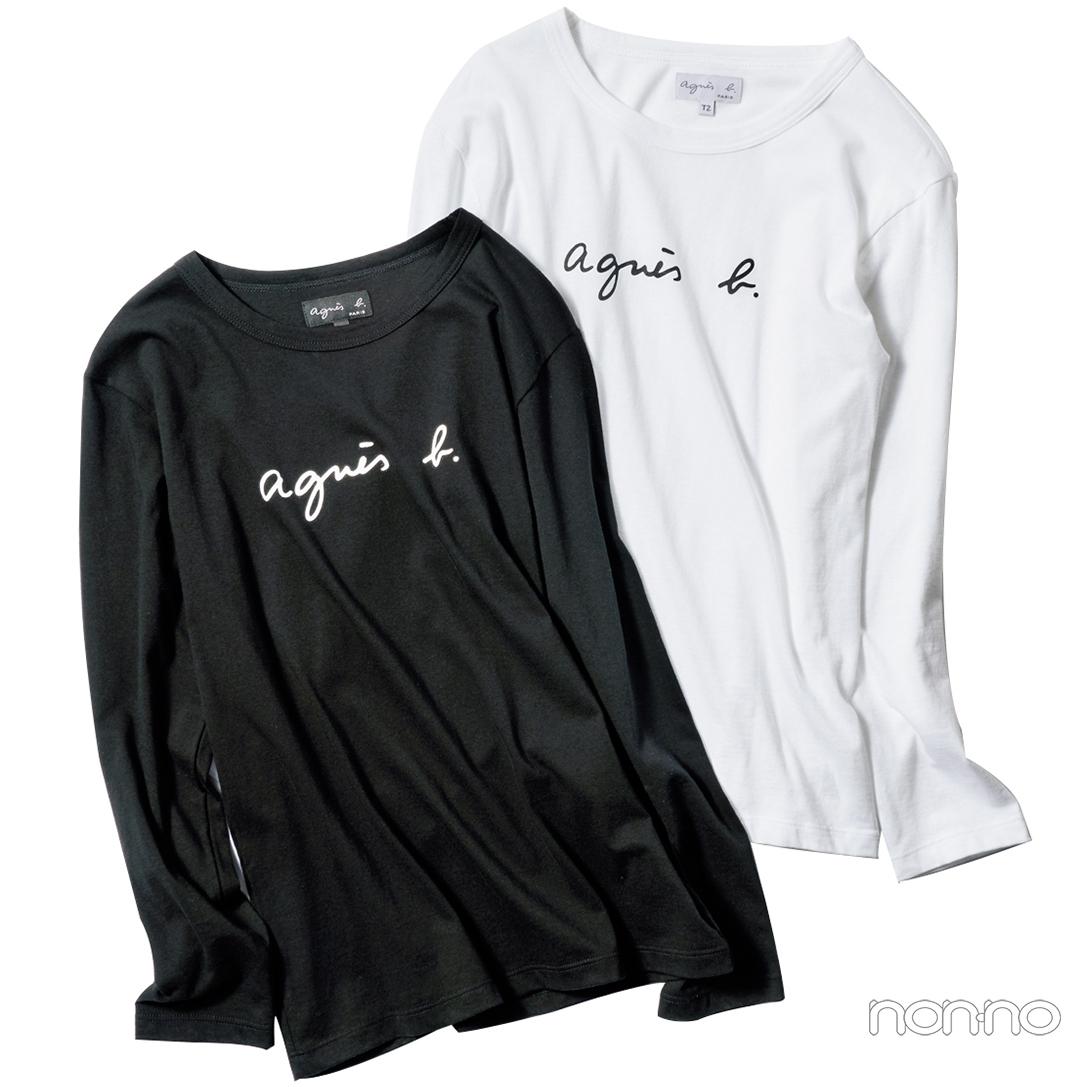 agnès b.(アニエス ベー)のロゴものがキテる♡ Tシャツ、キャップ…秋の新作も!_1_7