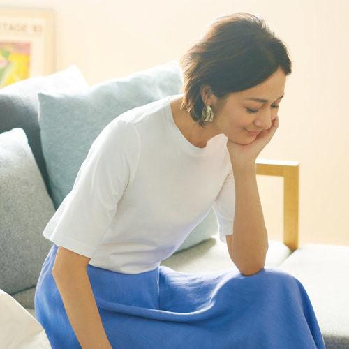 50代の今買いアイテムはコレ!体型をきれいに見せる「最旬Tシャツ」_1_1