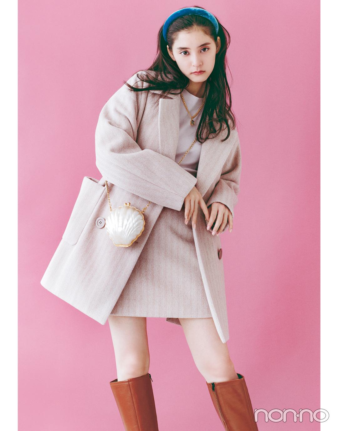"""【新木優子のPRETTY in Pink vol.1】好きな人のことを考えた時の""""はにかみピンク""""_1_4"""