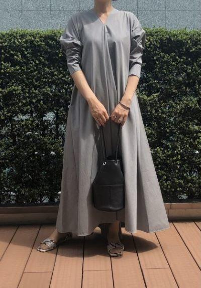 ATON ドレープドレス ¥75,900