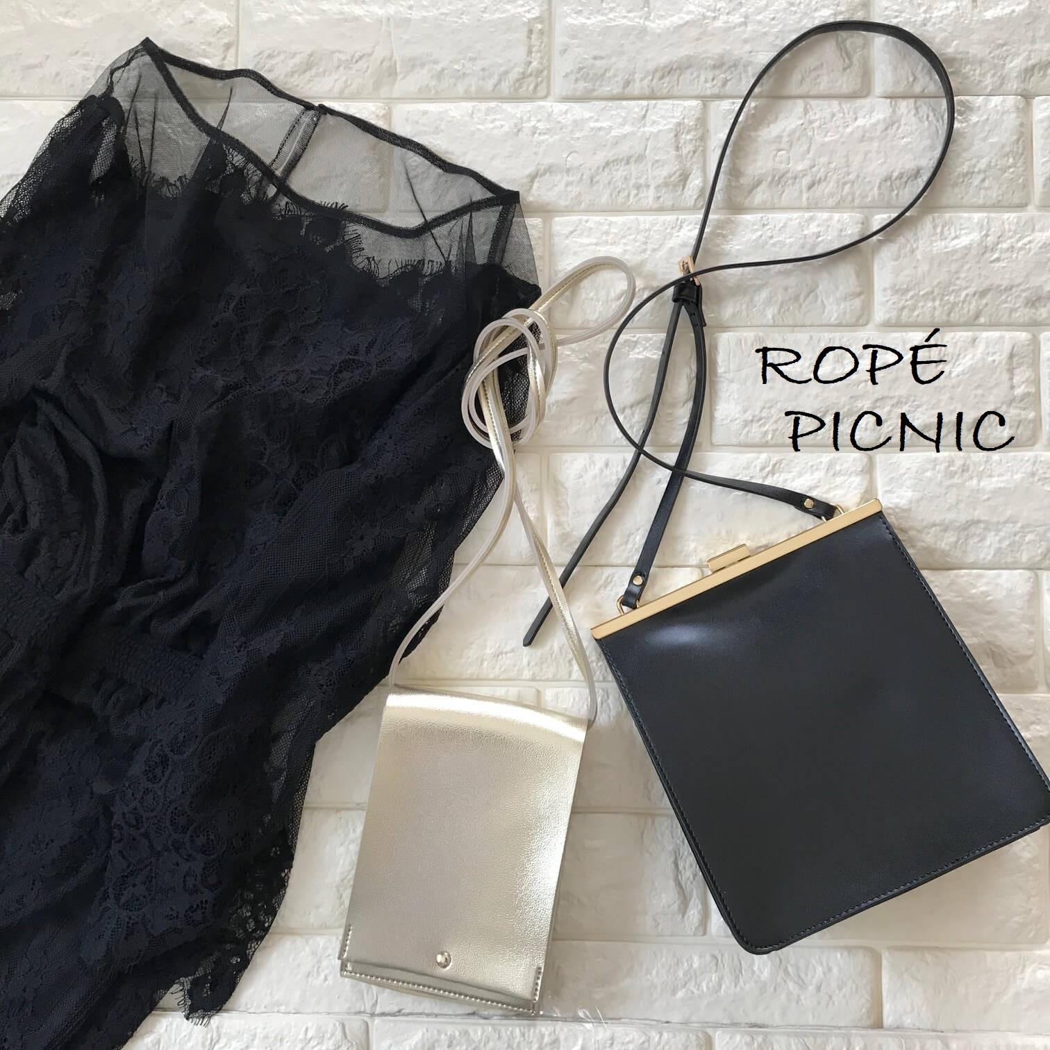 ロペピクニックレースドレスとバッグを合わせた画像