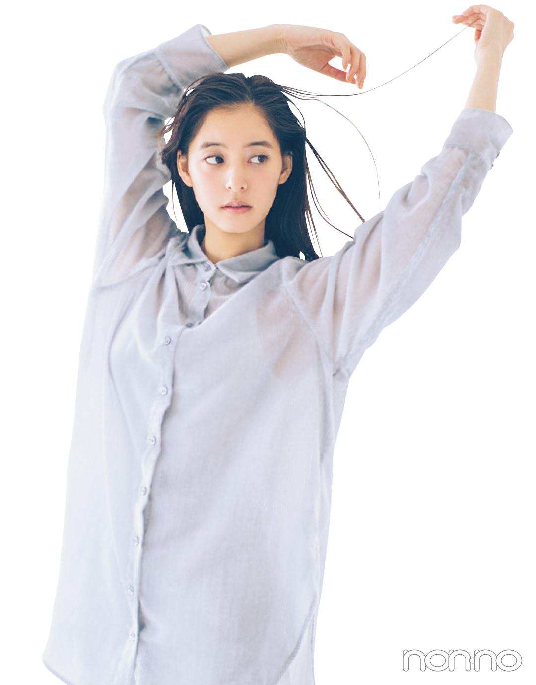 肌の透明感が引き立つ★ ブルー&グリーンの透けトップスをチェック!【正義の春服】_1_3