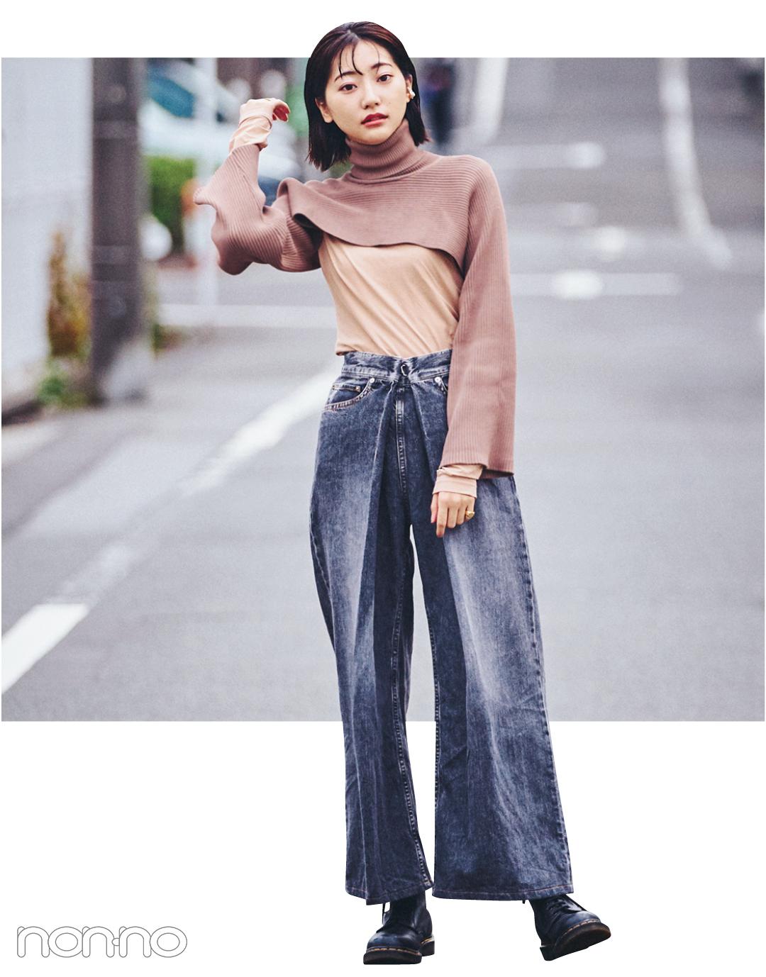 武田玲奈&松川菜々花の冬私服♡ ZARAのニット、韓国通販のパンツが大活躍_1_3