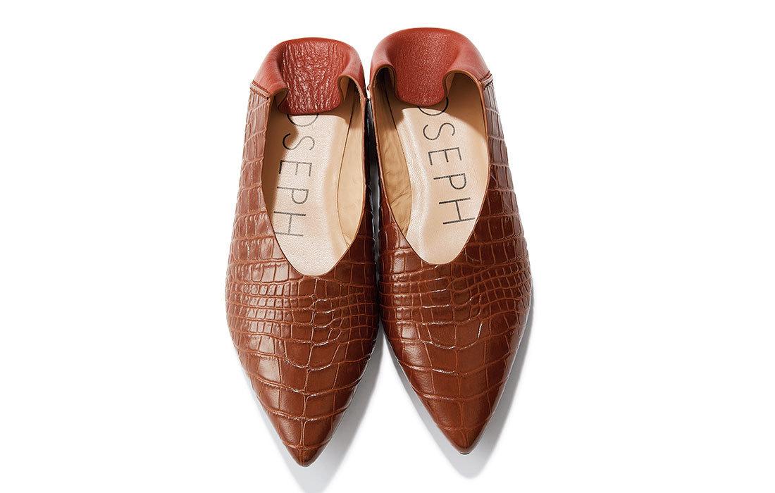 ■JOSEPHのバブーシュ風フラット靴