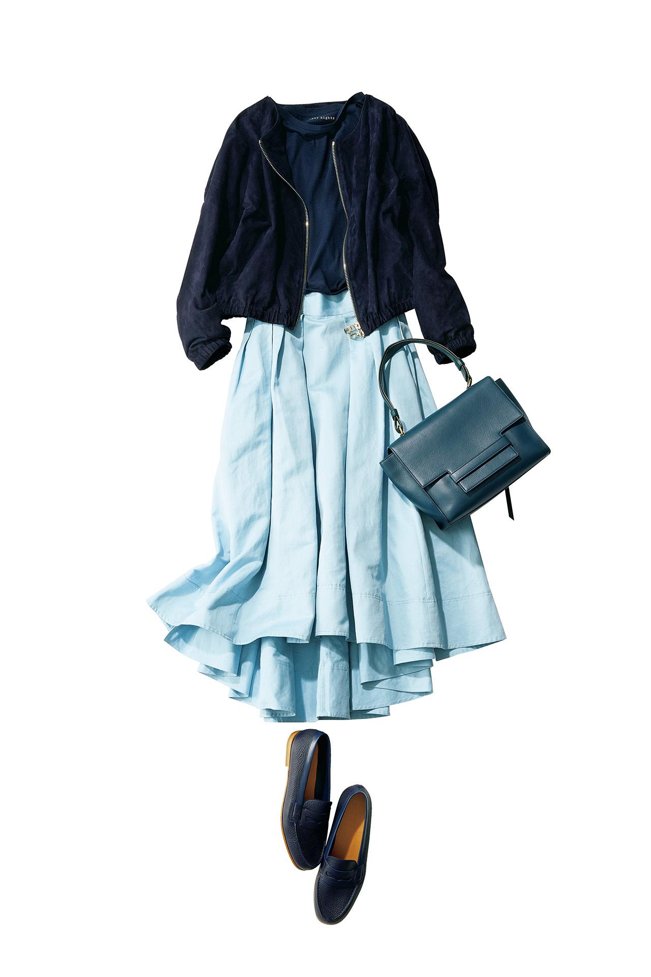 今年の大人カジュアルは「きれい色スカート×フラット靴」が新しい! 五選_1_1-5