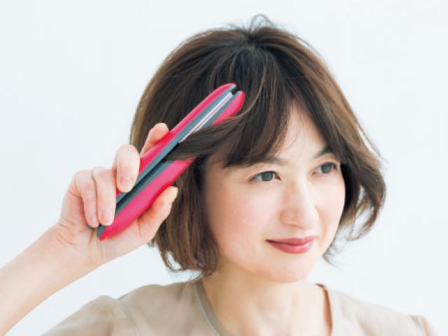 50代に似合う前髪の作り方 ストレートアイロンで外巻きに