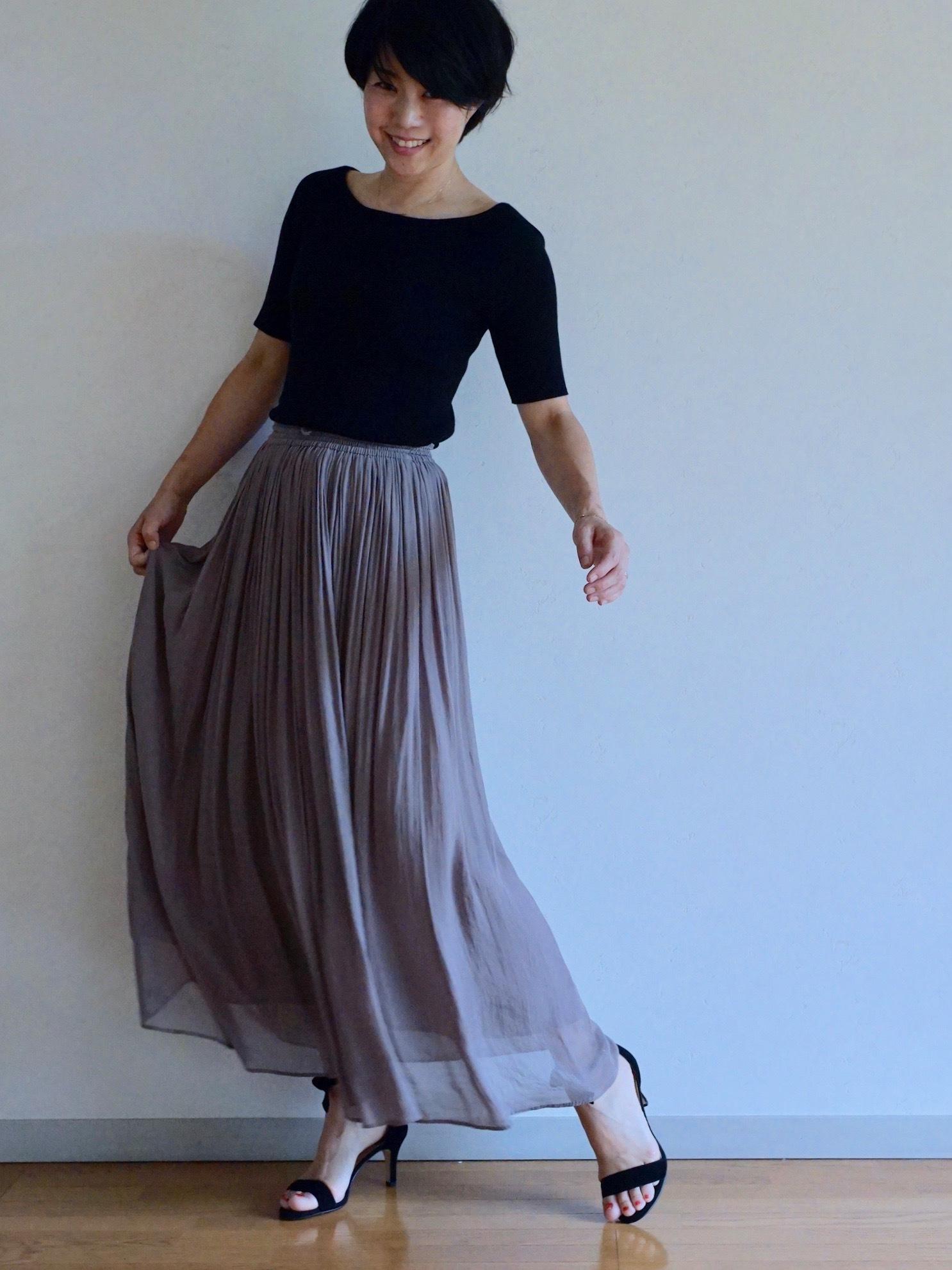 女っぷりを叶えてくれるふんわりスカートで私のワンツーコーデ_1_1-4