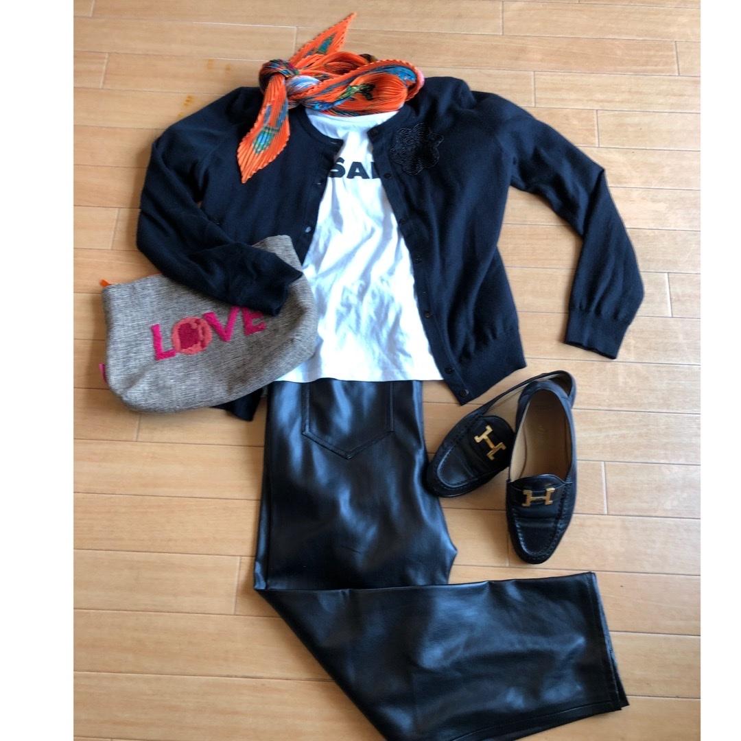 """ZARA leather pants"".でautumn fashion_1_4"
