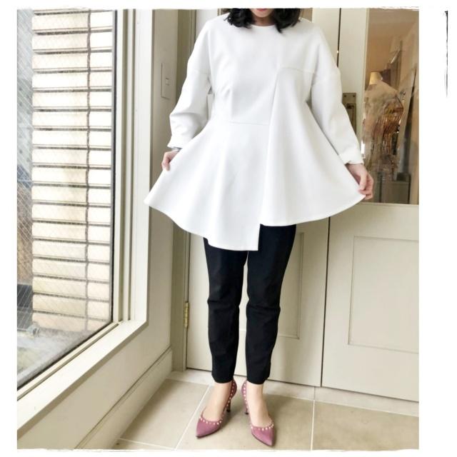 エンフォルドの褒められ白のプルオーバーを着て、ミモザのレッスンへ!!_1_4