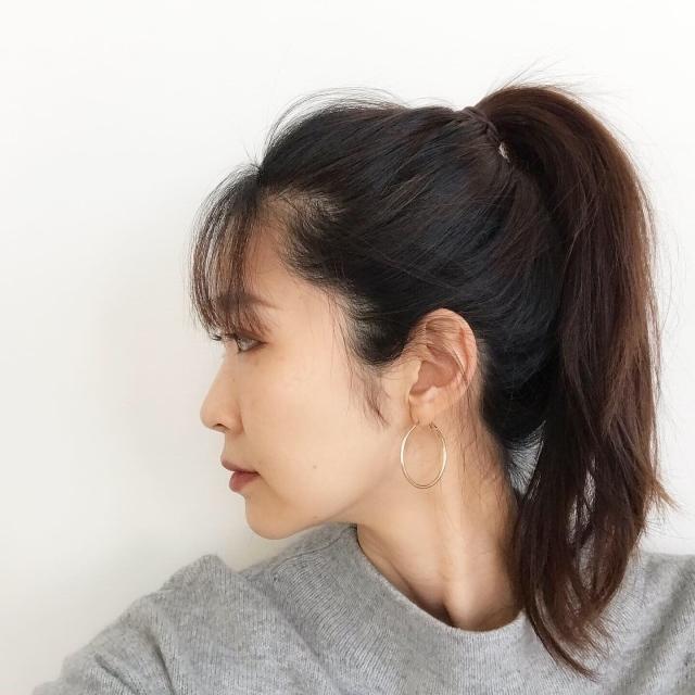 40代になってから初めての前髪。自分の顔立ちとのバランスを考えながら。_1_2