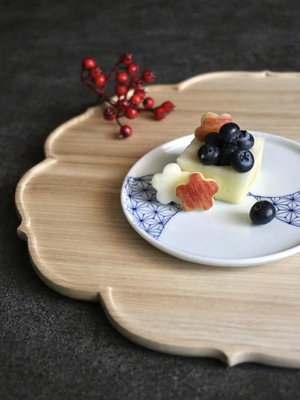りんごの升と惣次郎窯のミニプレート