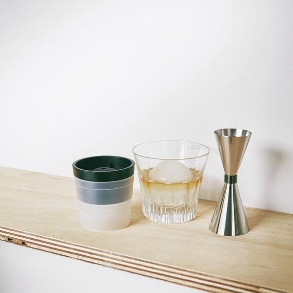ウイスキー用 メジャーカップ&丸氷製氷器