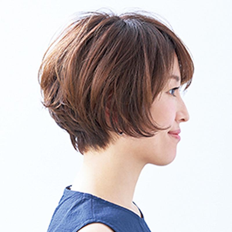 横から見た人気ショートヘアスタイル8位の髪型
