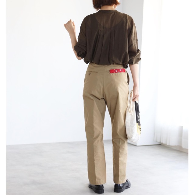 秋色シアーシャツでマニッシュコーデ【tomomiyuコーデ】_1_8