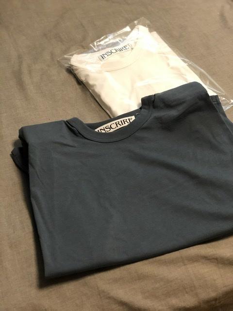 肩パッドTシャツは、INSCRIRE×eclatの別注カラー、グレーにしました。_1_3