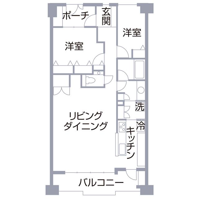 M邸の間取り図