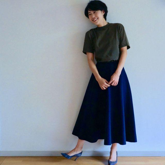 BLUEBIRD BOULEVARDのスカートで秋スタイル始め_1_1-1