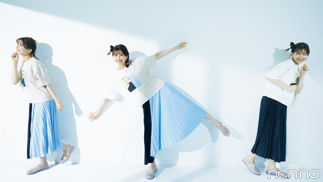 渡邉理佐の毎日Tシャツコーデ 7/2 今年もあと半分! の日