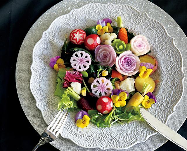 11種の野菜の花畑サラダ