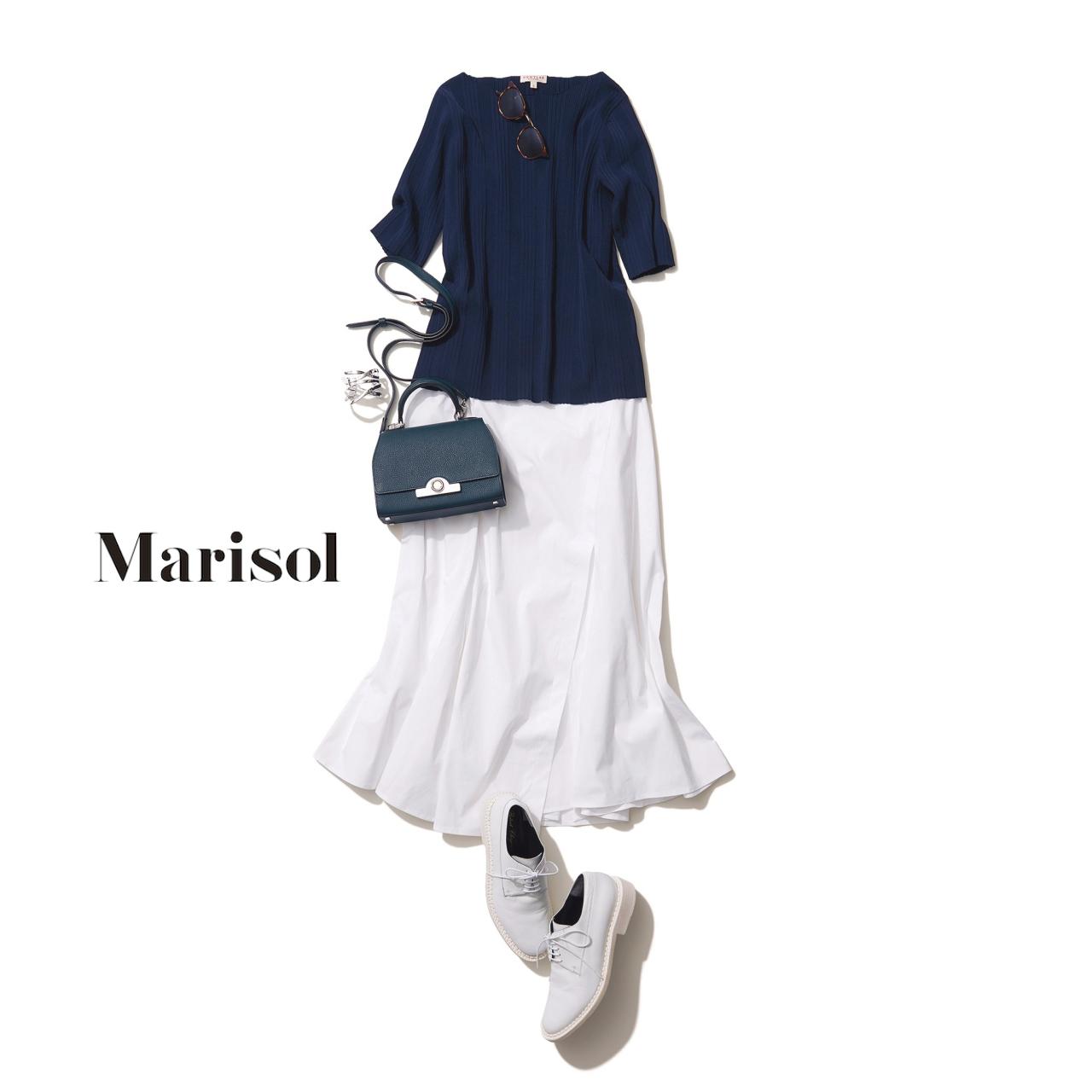 白スカート×白い靴コーデ