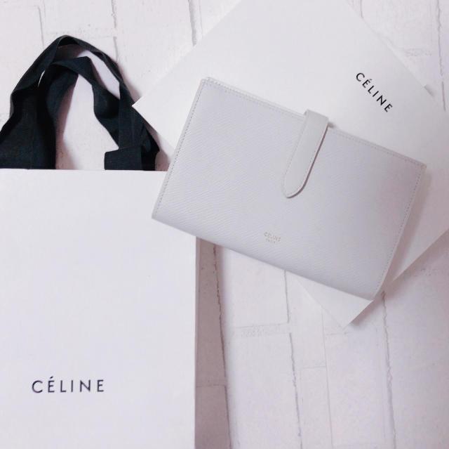 CELINEホワイト長財布が上品で可愛い_1_4