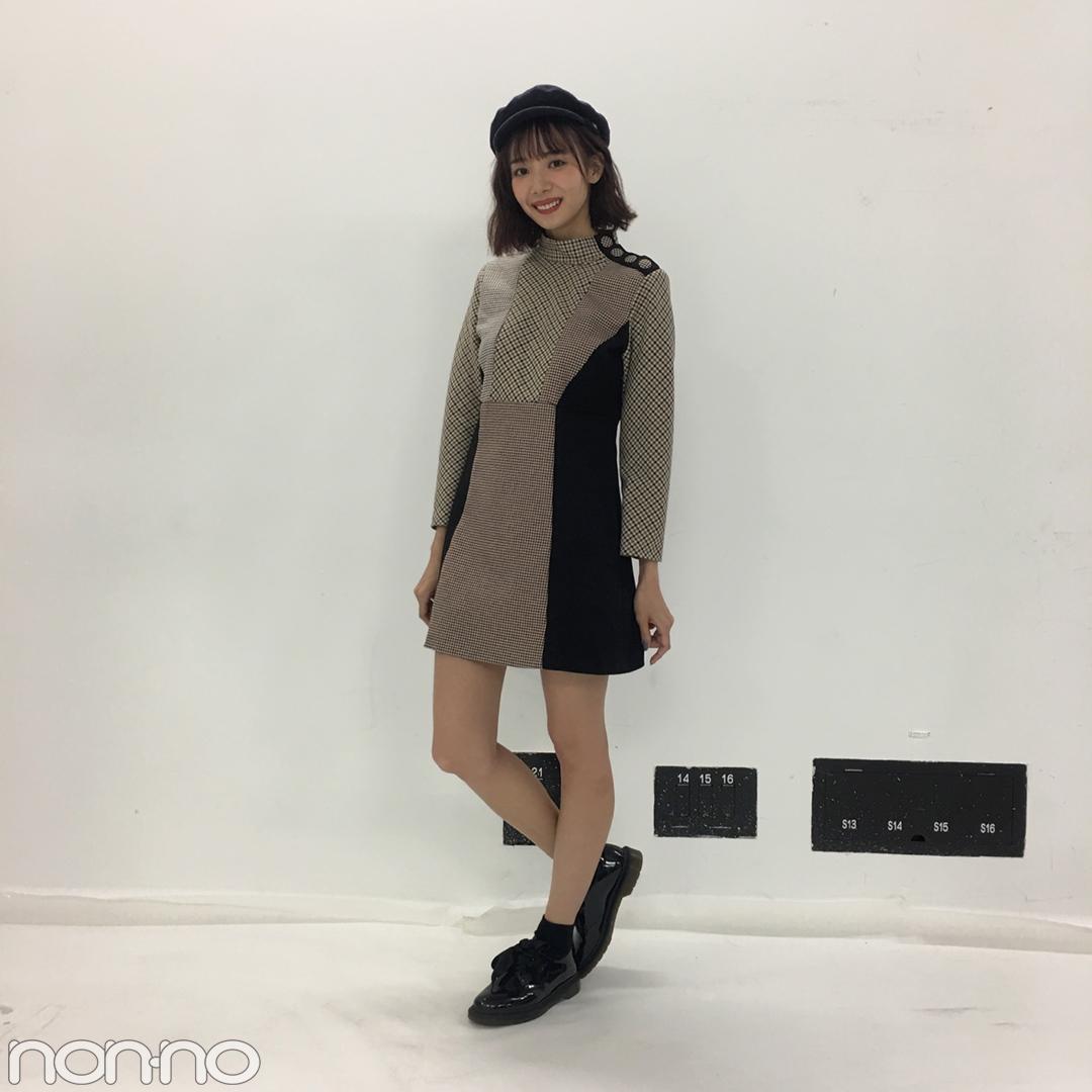 岡田紗佳はライダース×チェックでトレンド秋コーデ♡【モデルの私服】_1_2-1