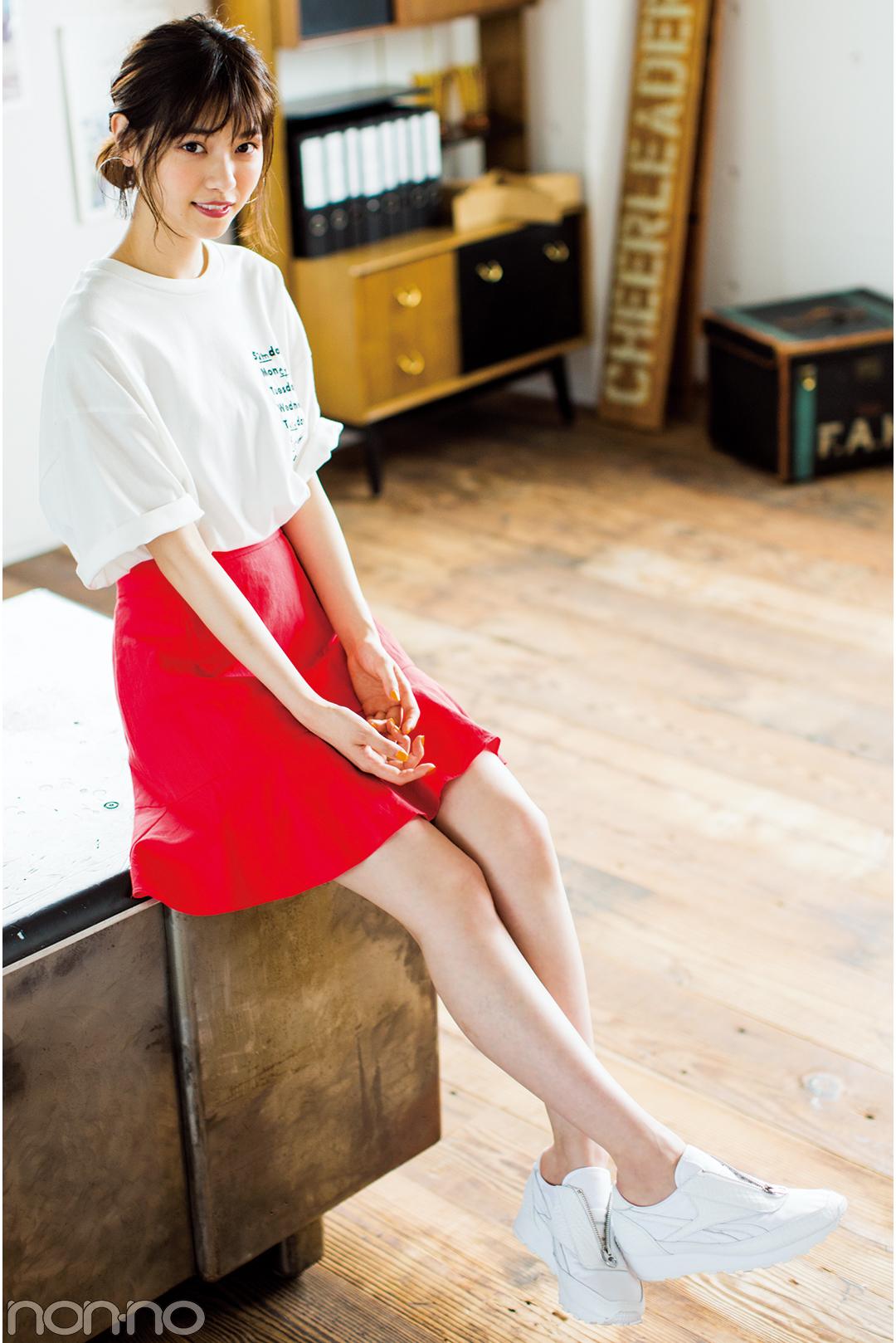 """子どもっぽく見えない!西野七瀬の""""甘く着ない""""夏のミニスカートが可愛い♡_1_3-1"""