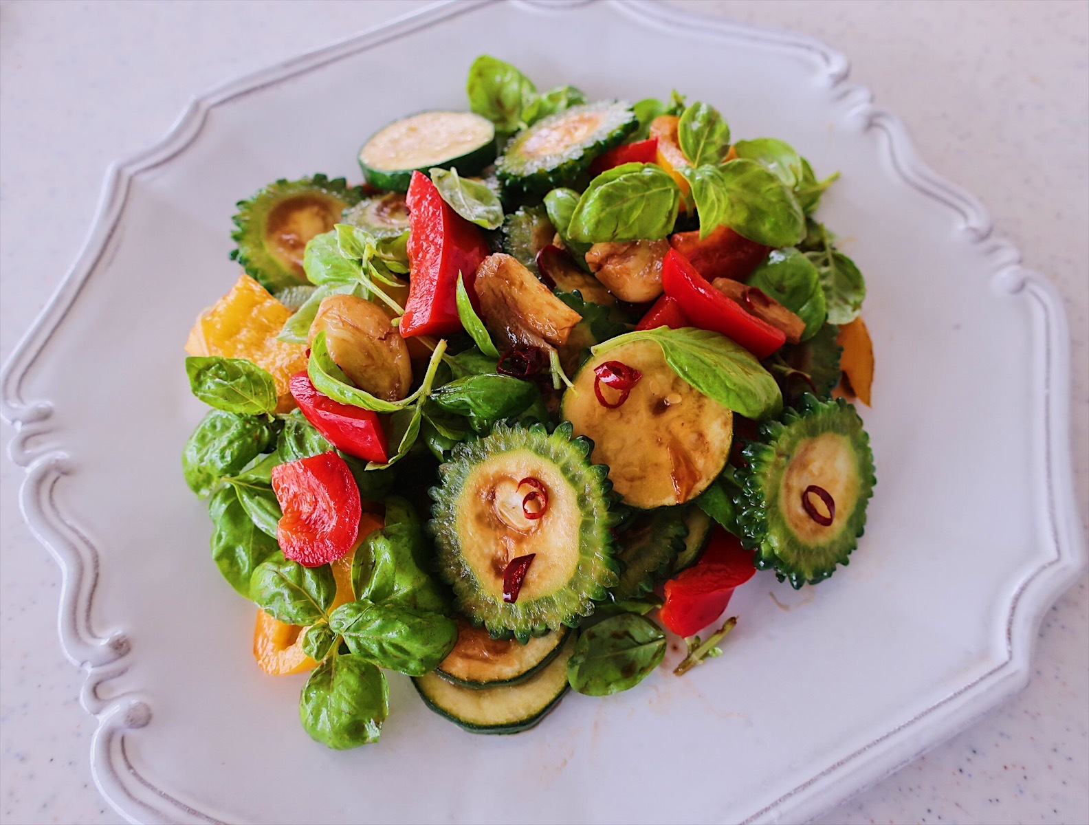 ピリッと香ばしい!夏野菜のグリルサラダ_1_1