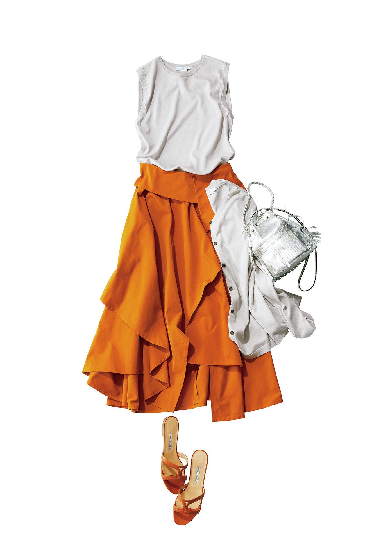 今年の大人カジュアルは「きれい色スカート×フラット靴」が新しい! 五選_1_1-4