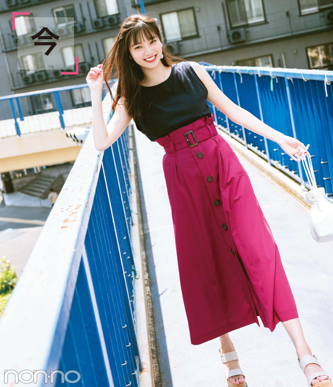 秋カラーのスカートって優秀! 今すぐ買って10月までの着回しコーデで実証★_1_2-1