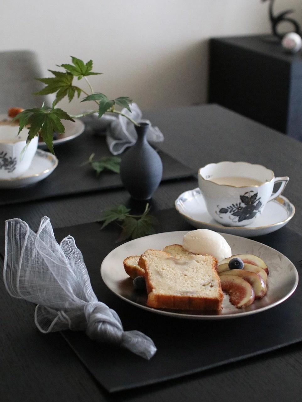 お茶タイムのテーブルコーディネート