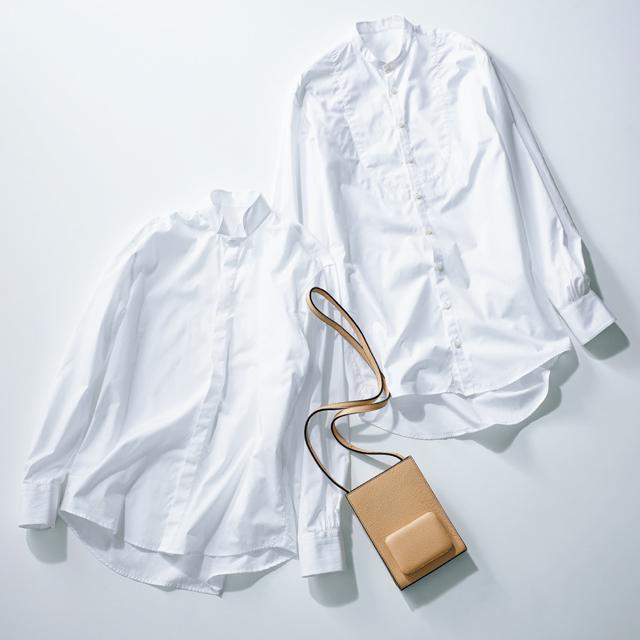 エスカーパーズのシャツとバッグ