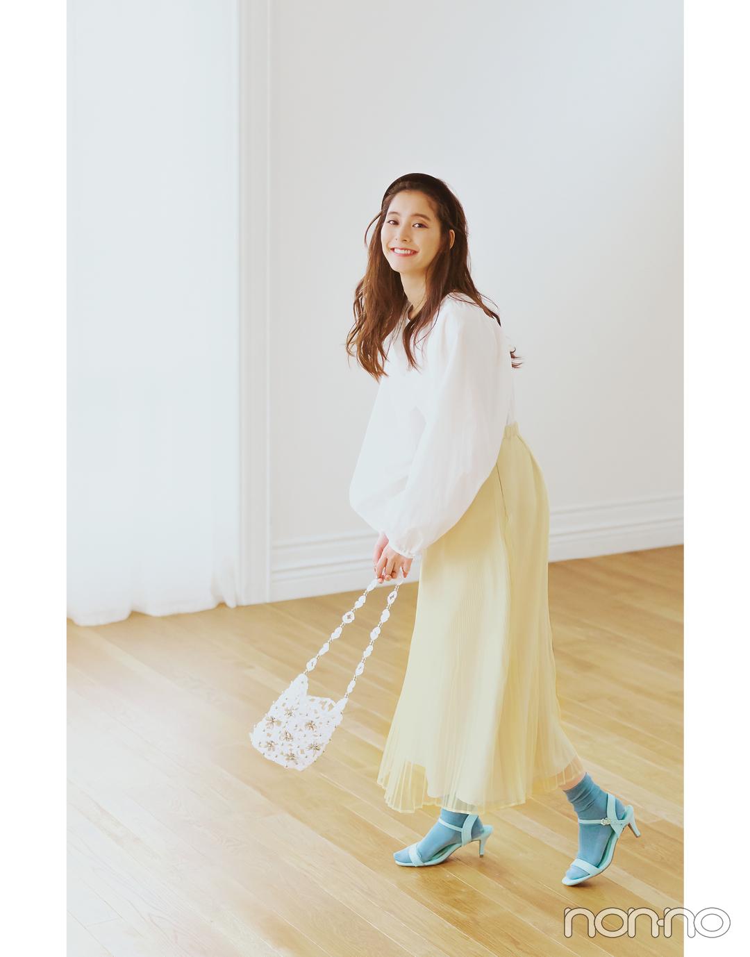 新木優子が着る春のトレンド色、イエローの選び方&コーデをチェック!_1_2