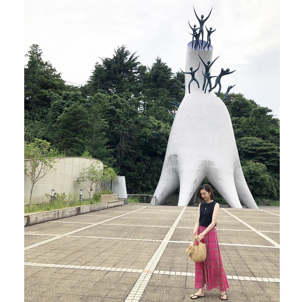 ピンクスカートで、岡本太郎美術館へ❤︎_1_1