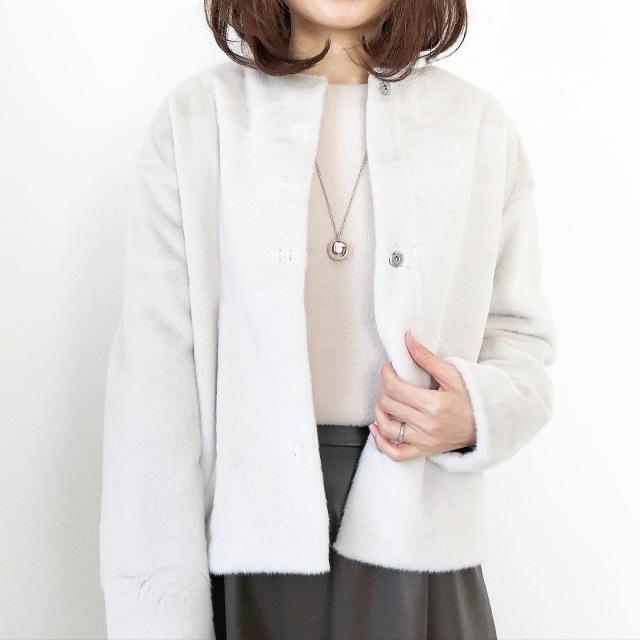 『UNIQLO』ふわふわ極上の手触り♡冬の白アウター【tomomiyuコーデ】_1_4