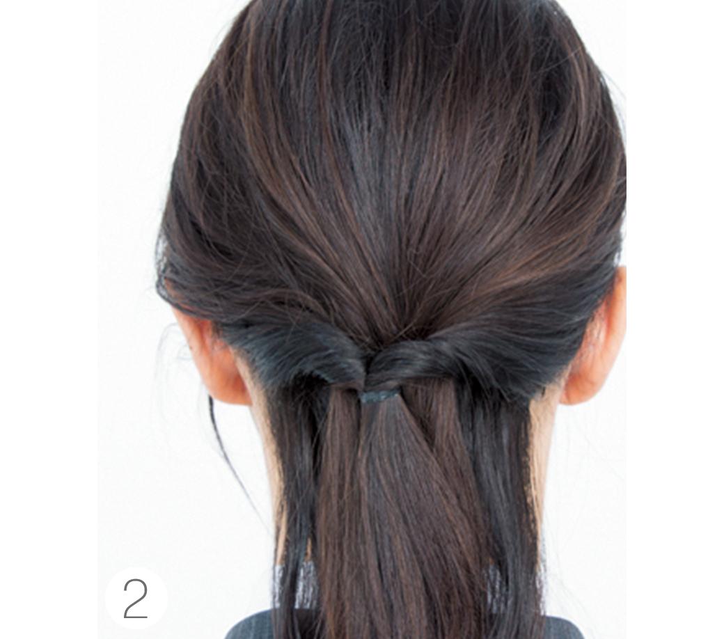 社会人の一つ結びヘアアレンジ、きれいめ×抜け感のポイントはココ!_1_3-3
