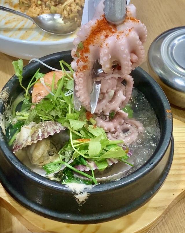 ソウル2019冬。本当に美味しかった店だけ②ピリ辛の貝&ネギだくビビンパと海鮮鍋_1_7