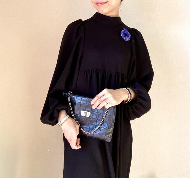 40代、初心にかえってリトルブラックドレスを更新しました。_1_5