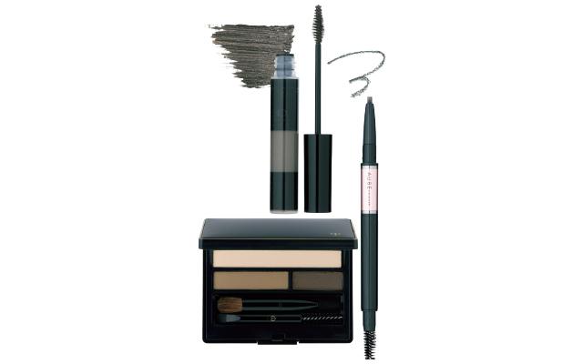 花王のオーブ デザイニングアイブロウ GY803、カネボウ化粧品のケイト 3Dアイブロウカラー GY-1、クレ・ド・ポー ボーテのアークエリーニュ YE-BR