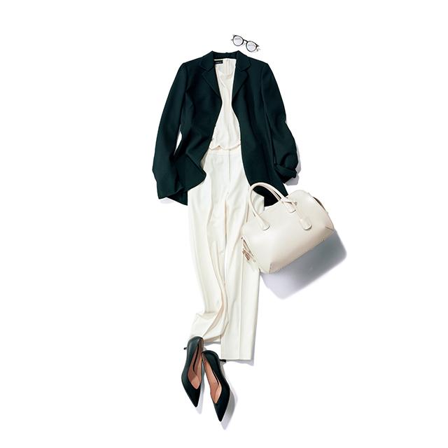 ホワイト×黒ジャケット