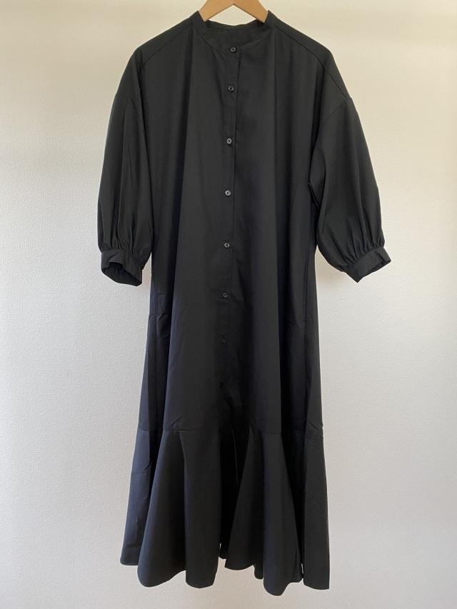 GU バンドカラーシャツワンピース(7分袖)