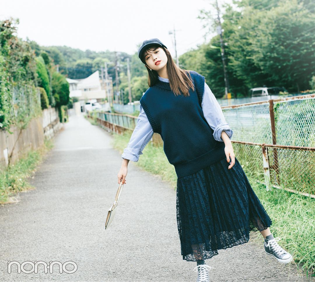 2019秋冬トレンド★ しゃれ見えできちゃう肩落ちニットベスト5選!_1_2