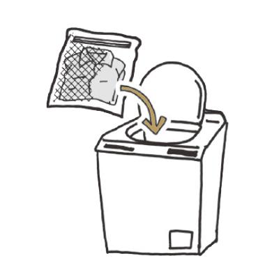 洗濯機に入れて