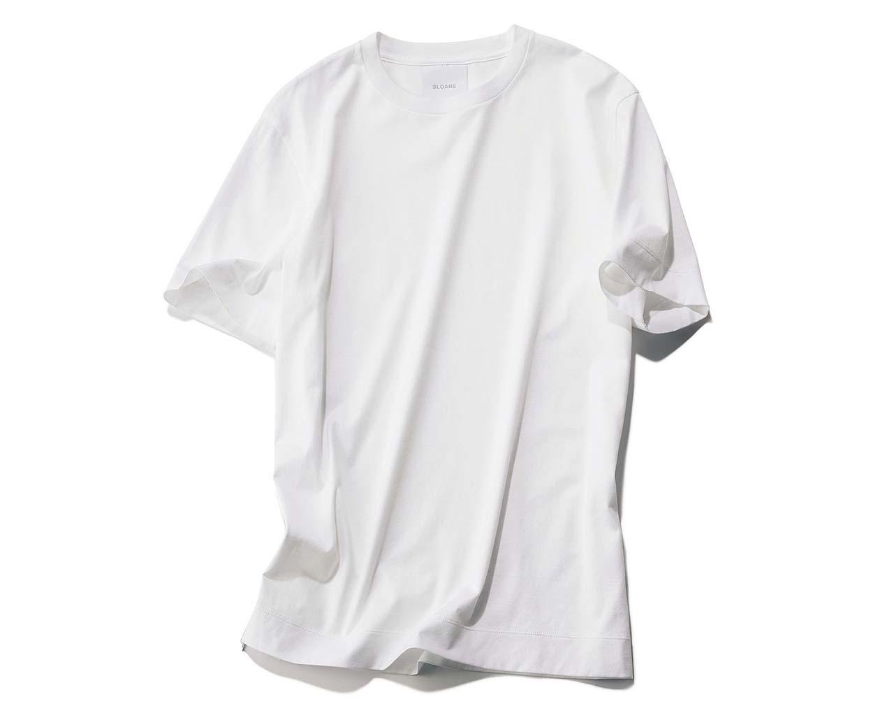 スローンの白Tシャツ