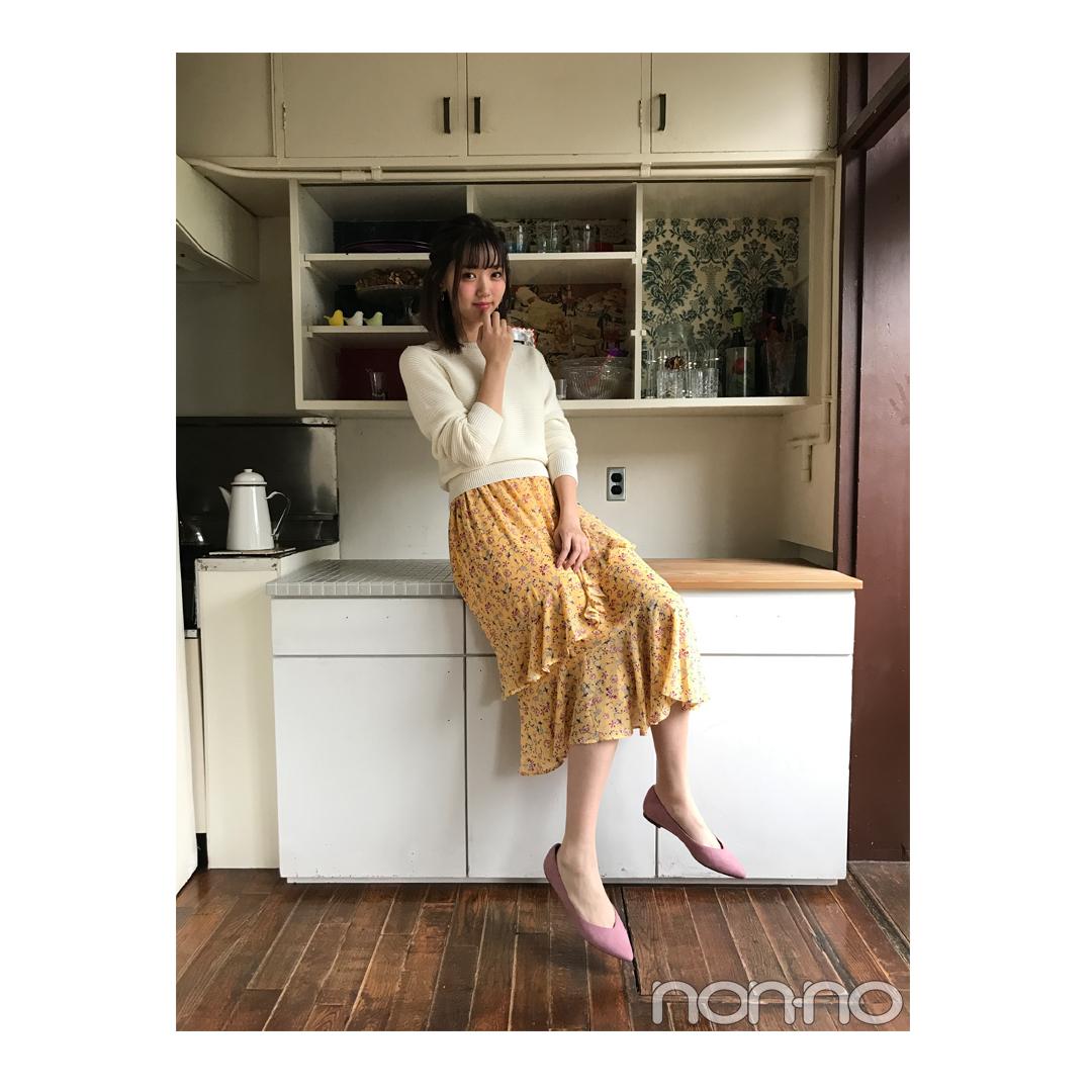 江野沢愛美が着るGUのALL春新作で靴までいれて¥5900以下コーデ【毎日コーデ】_1_1