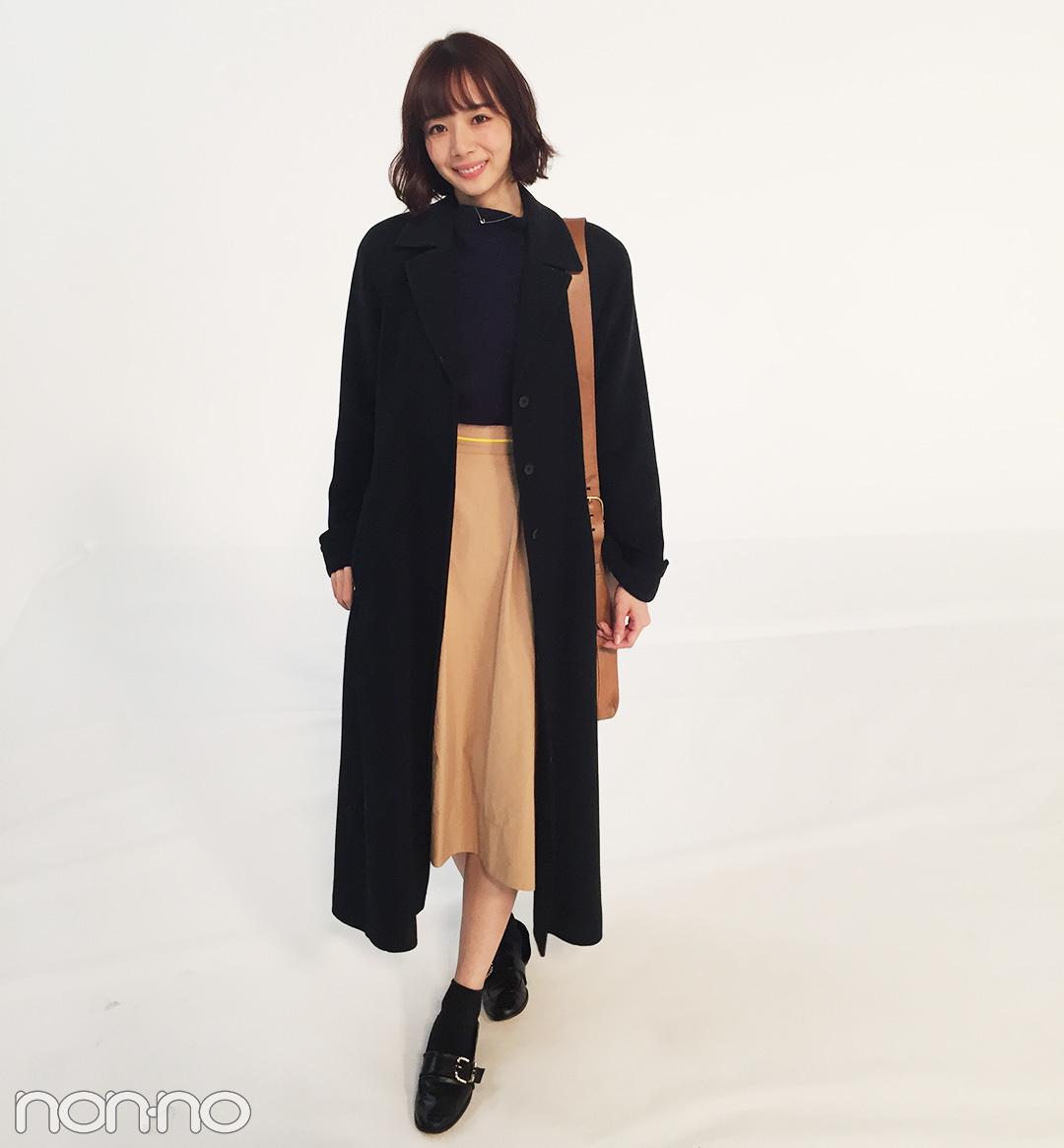岡田紗佳の冬コーデは黒&ベージュで大人っぽく!【モデルの私服スナップ】_1_1
