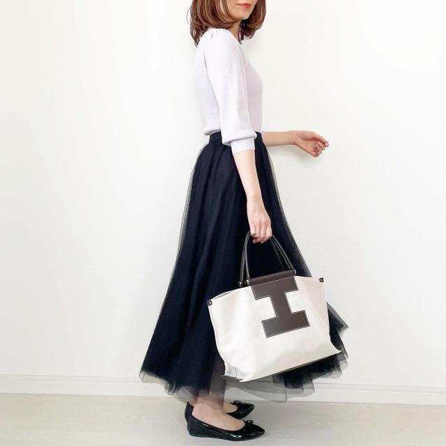 大人のチュールスカート着こなし術【tomomiyuコーデ】_1_5