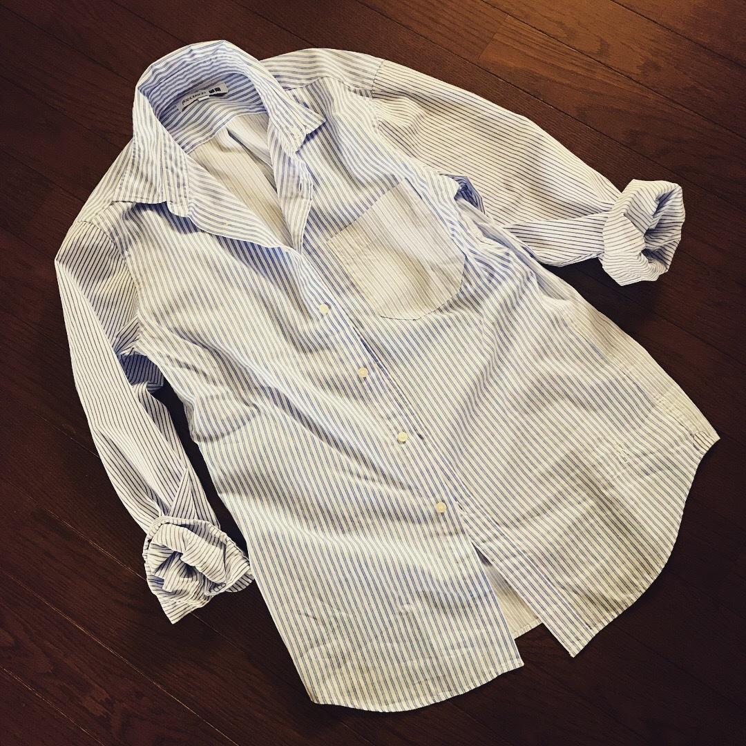 リアル通勤コーデ。夏が来た月曜日。ストライプシャツで爽やかワンツーコーデ!_1_2